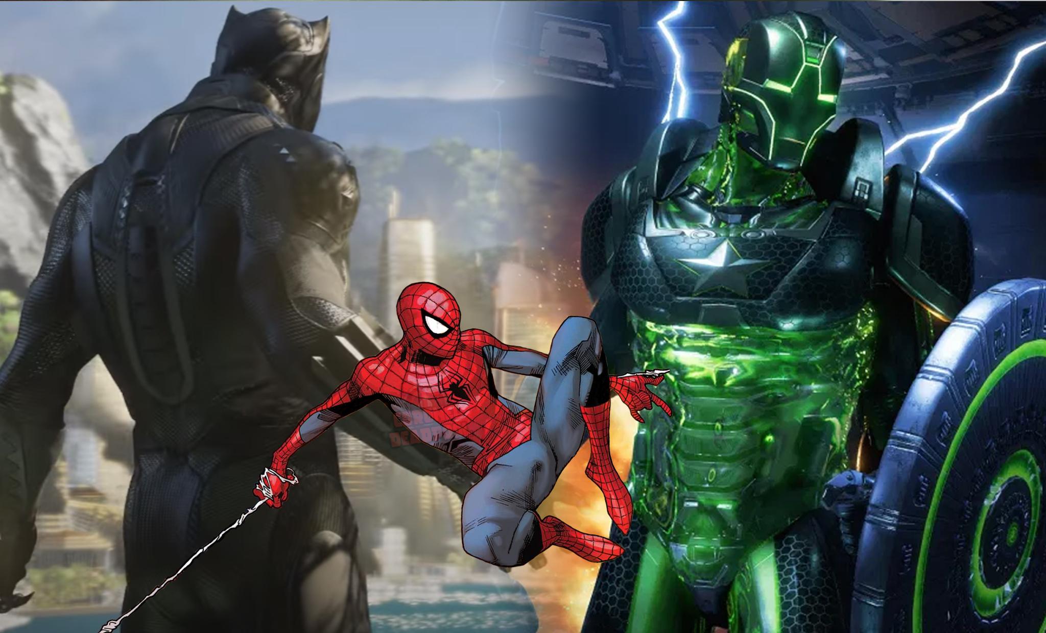 avengers game spiderman