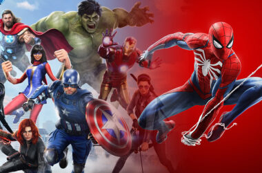 avengers game spider man